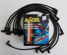 ACCEL Small Block Chevy 350 BLACK HEI Spiral SPARK PLUG WIRES Over Valve Covers