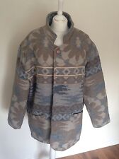 VTG RETRO AZTEC URBAN TRIBAL NAVAJO OVERSIZED FESTIVAL JACKET COAT VGC 16