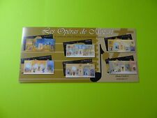 Stamps * FRANCE * SC 3218a * SS 6 Panes * Mozart * Costumes from Operas * 2006