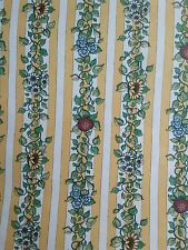Vintage wallpaper Country sunflower panzy yellow striped floral nip 2 Rolls 66ft
