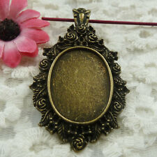 Free Ship 4 pieces bronze plated frame pendant 65x37mm #1845