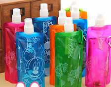 1PC Sports Hiking Gym Easy Carry Light water bottle Drink Bag with Hook