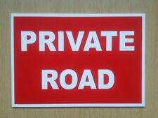 Strada privata Sign in rosso. RIGIDA. in plastica IMPERMEABILE. (PL-87)