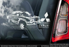 Mitsubishi L200 - Car Window Sticker - Dakar Rally Sign - Warrior Pickup