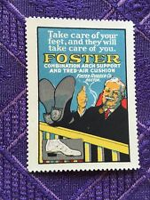 BOSTON FOSTER RUBBER COMPANY SHOE CUSHION ADVERTISING POSTER STAMP CINDERELLA