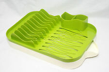 Sink Design Plastic Dish Drainer Rack Plates Cutlery Draining Drip Tray Red