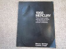 1968 Mercury Sales Brochure COUGAR CYCLONE MONTEGO Free Shipping!