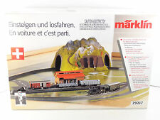 Marklin HO Scale SBB Swiss Branch Line Set w/ C Track Transformer Tunnel 29217