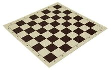 "20"" High Quality Vinyl Chess Board – Meets Tournament Standards - Brown"