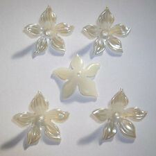20 x 28mm Ivory pearl flowers - card making/scrapbooking/shoe decorating