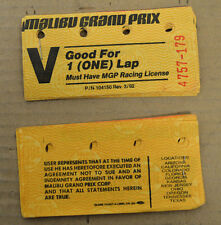 (20) Vintage Mailbu Grand Prix Tickets Good For (ONE) 1 Lap 1970's