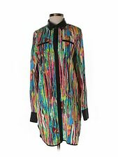 Prabal Gurung for Target Nolita Shirt Dress Tunic Faux Leather Collar Size S
