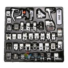 42x Domestic Sewing Machine Foot Feet Presser Snap Kit For Brother Singer Set A