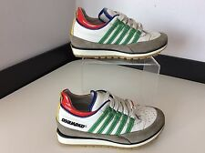 Dsquared2 Boys Sneakers, Uk 12, Eu30, White Leather Trainers, Runners, VGC