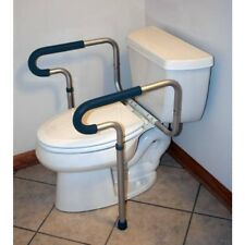 Toilet Bathroom Safety Frame Rail Medical 26 to 31 H Inch Aluminum