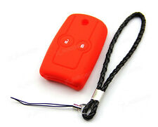 Red Silicone Case Cover For Honda Fit CR-V City Odyssey Remote Flip Key 2 Button