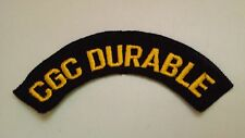 US Coast Guard Machine Embroidered Patch: CGC DURABLE