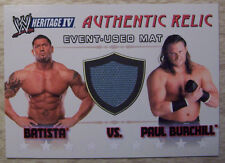 BATISTA Paul BURCHILL 2009 Topps Heritage IV WWE MAT RELICS RAW Used Canvas