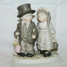 """5"""" ALWAYS & FOREVER FIGURINE 1996 PRETTY AS A PICTURE BOY & GIRL #245755"""