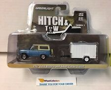 Greenlight  Hitch & Tow * 1967 Ford Bronco BLUE & Small Cargo Trailer