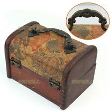 Decorative Gift Vintage Gracious Wooden Jewelry Box Storage Organizer Case ex1l