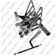 Adjustable CNC Rearsets Footpegs Pedals Footrests For Yamaha YZF R1 04-2006 Gray