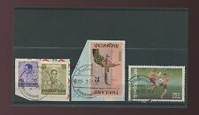 THAILAND SIAM BAMNETNARONG POSTMARKS on PIECE 4 stamps