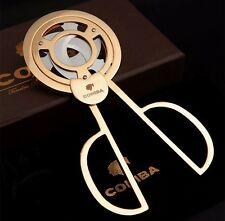 COHIBA Stainless Steel 3 blades Cigar Scissors Cutter New Boxed Golden