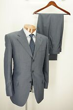 BORSALINO by NERVESA Gray Blue Pinstripe Suit Jacket Pants - 52R 42R - 33W copy