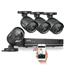 SANNCE 4CH 960H HDMI DVR 4x 900TVL Indoor Outdoor IR Home Security Camera System