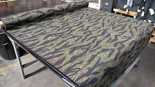 "Woodlands Vintage Tiger Stripe Ripstop 6.25 oz Fabric 65"" Camo Fabric Camouflage"