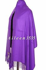 New 4-Ply 70% Pashmina & 30% Silk Shawl~Purple