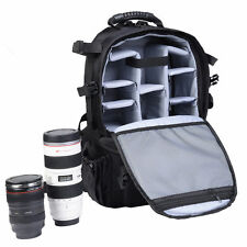 Professional Photography Deluxe Lens Video Camera Gear Backpack Carrying Bag SLR