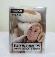 NEW HEAD Women's Ear Warmers Earmuffs Genuine Shearling Sheepskin One Size
