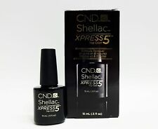 CND Shellac Gel Polish XPRESS 5 Top Coat 5 Minute Removal .5oz/15ml  Large