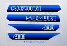 Suzuki PE400X 1981 Kit de la Etiqueta Engomada Calcomanía Kit TWINSHOCK ENDURO Motocross Clásico