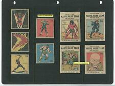 """1974 MARVEL VALUE STAMPS """"A"""", 9pc LOT cut PREMIUMS Thor CONAN Jack Kirby + Mint"""
