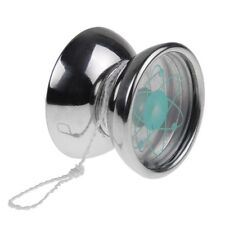 YoYo Metal Ball 3 Bearing String Trick Party Stainless Steel Toys Tone Silver