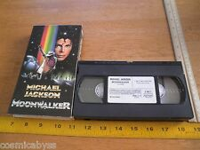 Michael Jackson Moonwalker 1988 VHS HTF ORIGINAL CMV sleeve case