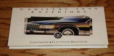Original 1995 Cadillac Fleetwood Exterior Colors Foldout Sales Brochure 95