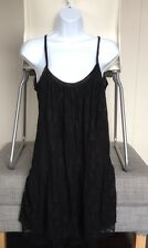 RARE NWT Chic By Nicky Hilton 90s Silk Black Lace Dress Womens Small Retail $260