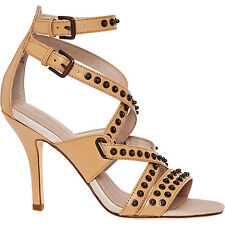 Diesel Nude Leather Multi Strap Studded High Heel Sandals Size 5 RRP £220