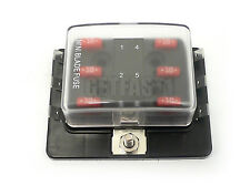 PER-5606 ATM Mini Fuse Block Panel 6 Gang 12 Volt Blade No Ground Clear Cover