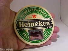 Heineken Brewery Pilsener Vintage Beer Felt Coaster Bottle Opener Metal-Plastic