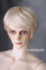 """8-9"""" 1/3 BJD Hair IP SD doll wig Super Dollfie Short blonde hair M-mohair"""