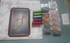 Mirabilia Mermaids Of The Deep Blue MD85 Chart, Linen and beads and Kreiniks