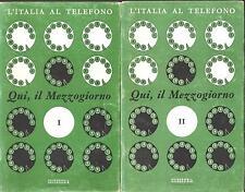 L'ITALIA AL TELEFONO. QUI, IL MEZZOGIORNO: CAMPANIA PUGLIA BASILICATA CALABRIA..