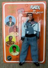 "HAPPY DAYS Original CLOTH 2004  FONZIE MECHANIC UNPUNCHED MEGO 8"" FIGURE"