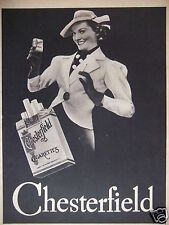 PUBLICITÉ 1937 CHESTERFIELD CIGARETTES - ADVERTISING