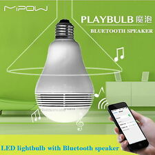 MIPOW PLAYBULB Smart LED Bulb Lights Wireless Bluetooth Speaker 110V 240V 5W E26